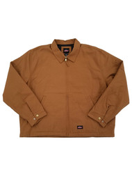 Dickies Mens Brown Relaxed Fit Quilt Lined Canvas Jacket