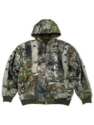 Mossy Oak Mens Mountain Country Camouflage Deer Hunting Camo Bomber Jacket