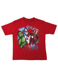 Marvel Comics Boys Red Avengers T-Shirt Hulk Iron Man T-Shirt Tee Shirt