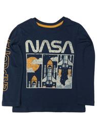 Sonoma Boys Long Sleeve Blue Nasa Astronaut T-Shirt Tee Shirt