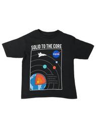 Nasa Boys Black Short Sleeve Solid to the Core Space T-Shirt Tee Shirt