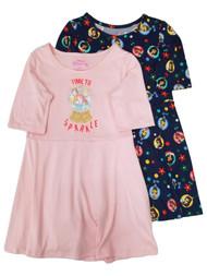 Disney Princess Girls Christmas Ariel Belle Cinderella Nightgown Set