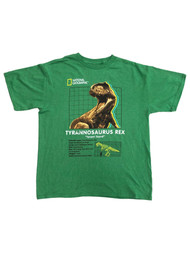 National Geographic Boys Green Short Sleeved T-Rex Dinosaur Tee Shirt