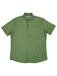 G.H. Bass & Co. Mens Forest Green Plaid Untucked Button-Down Shirt