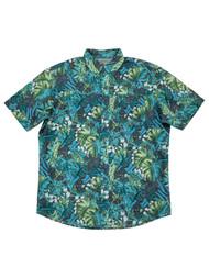 G.H. Bass & Co. Mens Everglade Green Untucked Button-Down Shirt