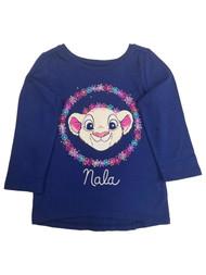 Disney Infant Girls Lion King Navy Blue Nala Flowery T-Shirt Tee Shirt
