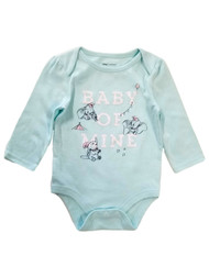 Disney Infant Girls Dumbo Mint Blue Baby of Mine Elephant Bodysuit Creeper