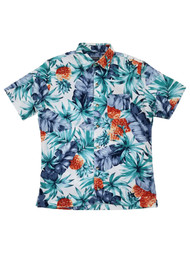 Van Heusen Air Mens Bright White Hawaiian Short Sleeve Button-Up Shirt