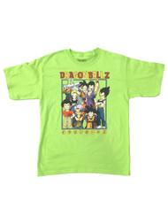 Dragon Ball Z Boys Neon Green Goku Tee Shirt Gamer T-Shirt
