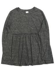 Womens Long Sleeved Heather Gray Ruffled Maternity Top Tee Shirt T-Shirt
