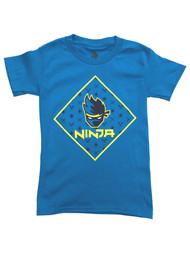 Ninja Boys Blue Short Sleeve Streamer Tee Shirt Gamer T-Shirt