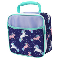 Arctic Zone 4 Piece Purple Unicorn Lunch Box Set, Insulated Lunch Bag Lunchbox
