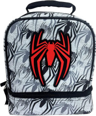 Spider-Man Dual Compartment Drop Bottom Lunchbox, Insulated Lunch Box