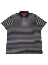 The Foundry Big & Tall Mens Dark Charcoal White Short Sleeve Polo T-Shirt