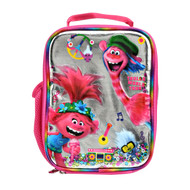 Trolls Poppy World Tour Insulated Lunchbox, Pink Peace Music Lunch Bag