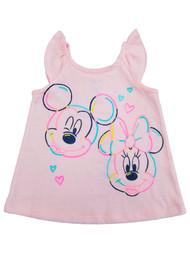 Disney Infant Girls Minnie & Mickey Mouse Cute Pink T-Shirt Tee Shirt 18 Months