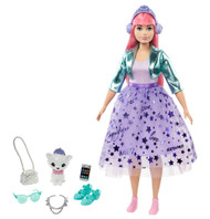 Barbie Princess Adventure Daisy Doll in Princess Fashion, Pink Hair