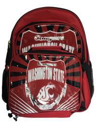 """WSU Cougars Lightning Kids Sports 16"""" Backpack & Insulated Lunch Box"""
