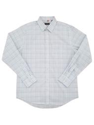 Van Heusen Traveler Mens Blue Chambray Stretch Long Sleeve Button-Up Shirt M