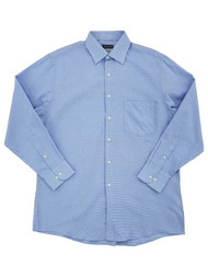 Van Heusen Mens Blue Wave Long Sleeve Dress Shirt