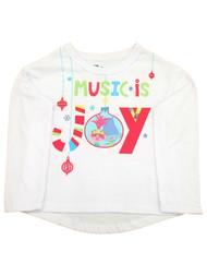 Trolls World Tour Toddler Girls Music is Joy Poppy Holiday Christmas T-Shirt