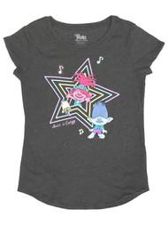 Trolls World Tour Movie Girls Gray Music is Energy T-Shirt Tee Shirt XL (14-16)