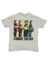 Marvel Comics Boys Gray Avengers T-Shirt Hulk Iron Man Tee Shirt 8