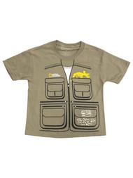 National Geographic Boys Tan Short Sleeved Dinosaur Tee Shirt T-Shirt 8
