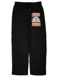 Dragon Ball Super Mens Black Beerus Favorite Ramen Sleep Pants Pajama Bottoms L