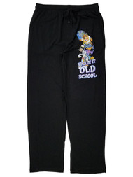 Looney Tunes Mens Black Old School Lounge Pant Sleep Pants Pajama Bottoms L