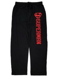 Superman Mens Black & Red Lounge Pant Sleep Pants Pajama Bottoms
