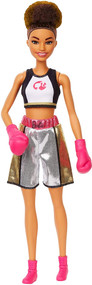 Barbie Careers Boxer Doll with Brunette Afro Hair & Boxing Gloves