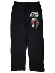 Star Wars Mens Black Boba Fett Lounge Pant Sleep Pants Pajama Bottoms