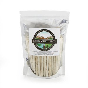 25 Plain Rawhide Chews for Small Dogs