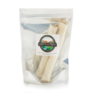 10 Plain Rawhide Rolls For Large Dogs, 100% USA Made