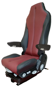 GraMag BURGUNDY BLACK SYN LEATHER SELECT SEAT