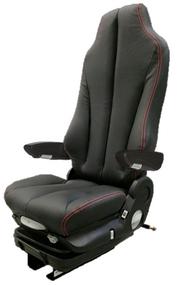 GraMag BLACK/RED STITCH SYN LEATHER STANDARD SEAT