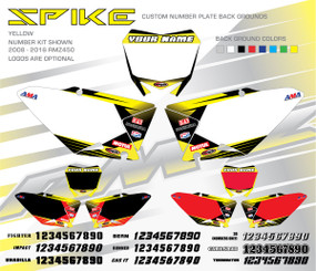 Megla Designs Spike Suzuki Number Plate Backgrounds in Yellow