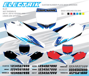 Megla Designs Electrik Yamaha Number Plate Backgrounds