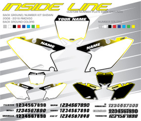 Megla Designs Inside Line Suzuki Number Plate Backgrounds
