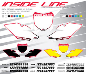Megla Designs Inside Line Honda Number Plate Backgrounds