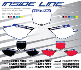 Megla Designs Inside Line Yamaha Number Plate Backgrounds
