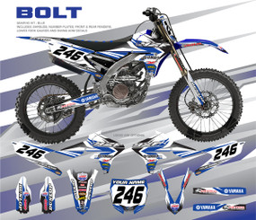 Megla Designs Bolt Yamaha Graphic Kit In Blue