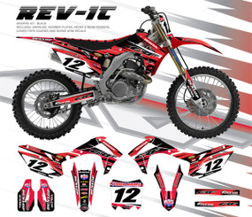 Megla Designs Rev It Honda Graphic Kit In Black