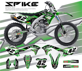 Megla Designs Spike Kawasaki Graphic Kit In Black
