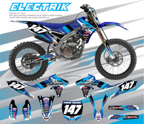Megla Designs Electrik Yamaha Graphic Kit In Blue