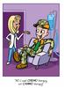 Cancer Girl, LLC -Camo-Guy Chemo-Guy Greeting Card