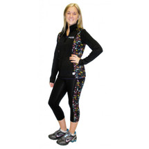 Cancer Awareness Multi Colored Ribbon Exercise Capri Pant by Live for Life