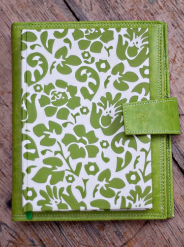 Ready for Recovery Cancer Treatment Organizer & Planner for Breast Cancer includes the Breast Cancer Planner & Cancer Journal in green floral print