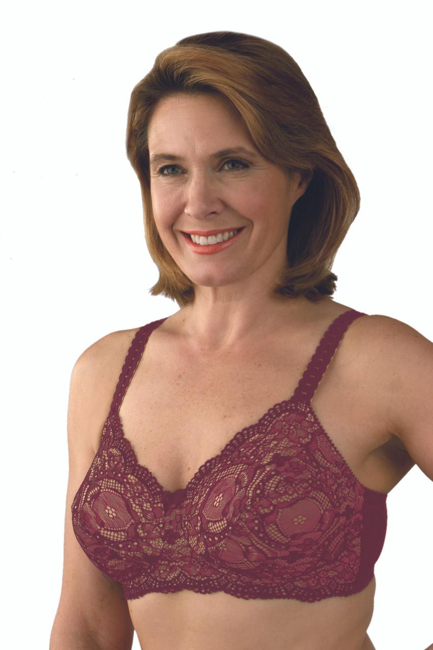 60c4d2ef72ef Classique Lace Mastectomy Bra - Burgundy
